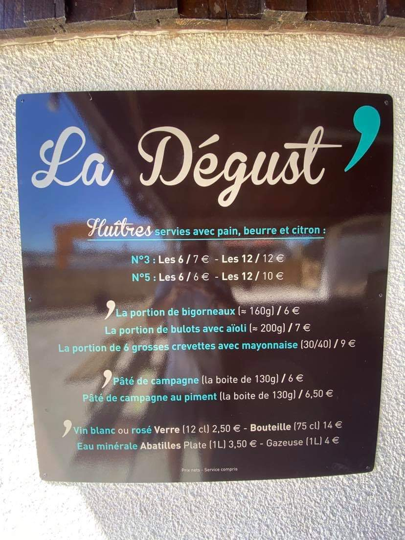 carte degustation