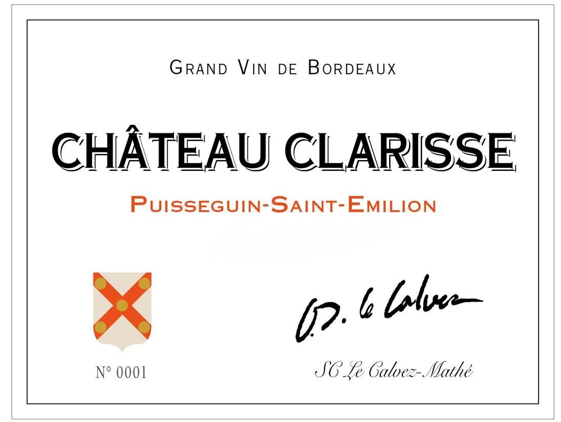 etiquette Chateau Clarisse