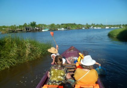Balade en galupe dans le Delta de Leyre