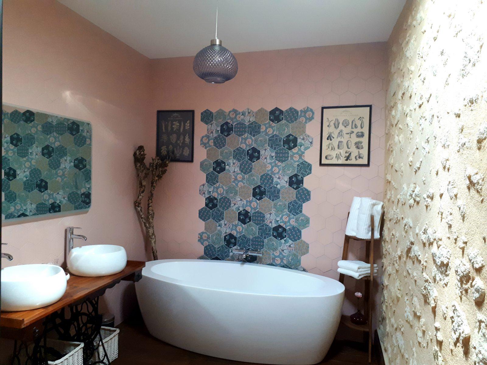 salle-de-bain-chambre-côté-jardin- Domaine de Garat