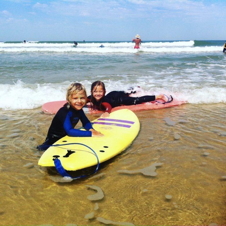 surf cours enfant lacanau – Adrien Valero